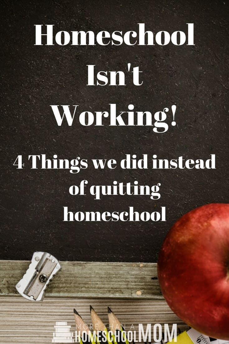 Homeschool Isn't Working