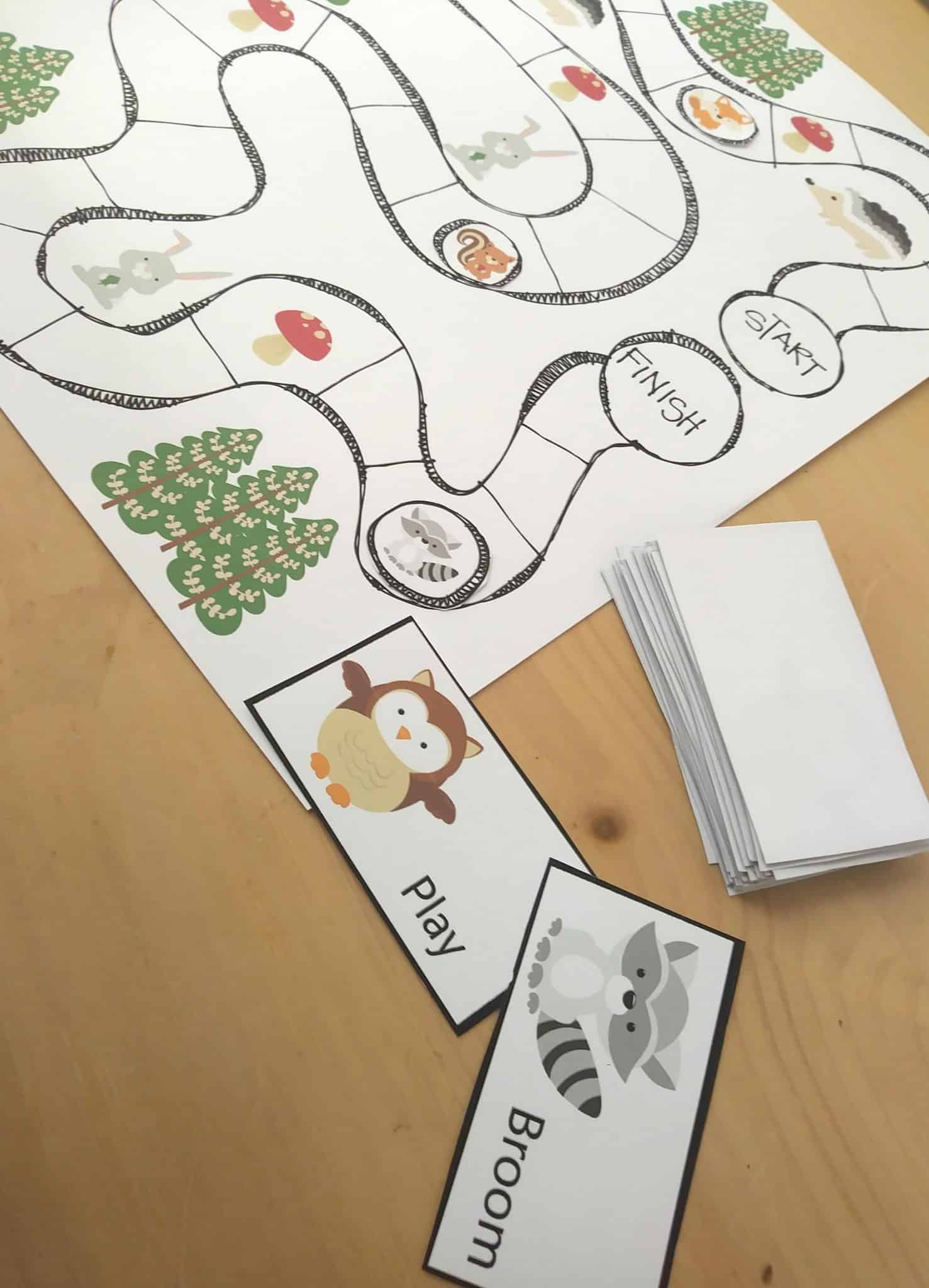 Parts of Speech Game - Free Printable