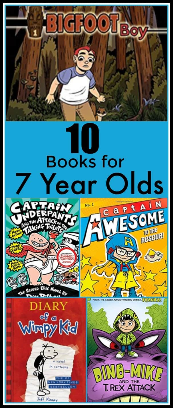 10 Books for 7 Year Olds - 10 Awesome books my 7 year old son is obsessed with! - #reading #books #amazingbooks #homeschool #education #edchat #readinglist