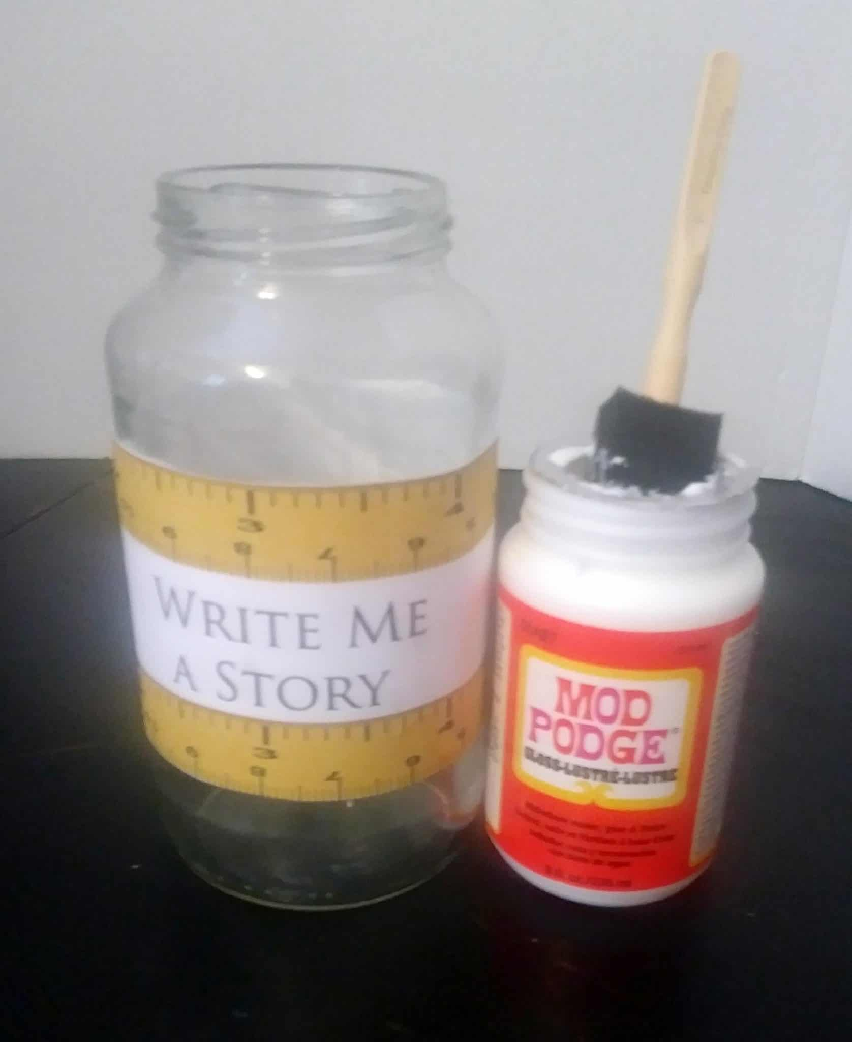 Writing Prompt Jar Craft