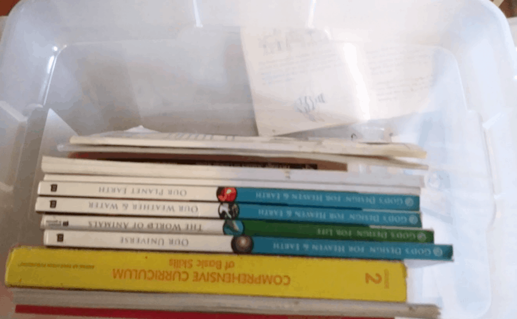 My Homeschool Organization System - Workbooks and Curriculum