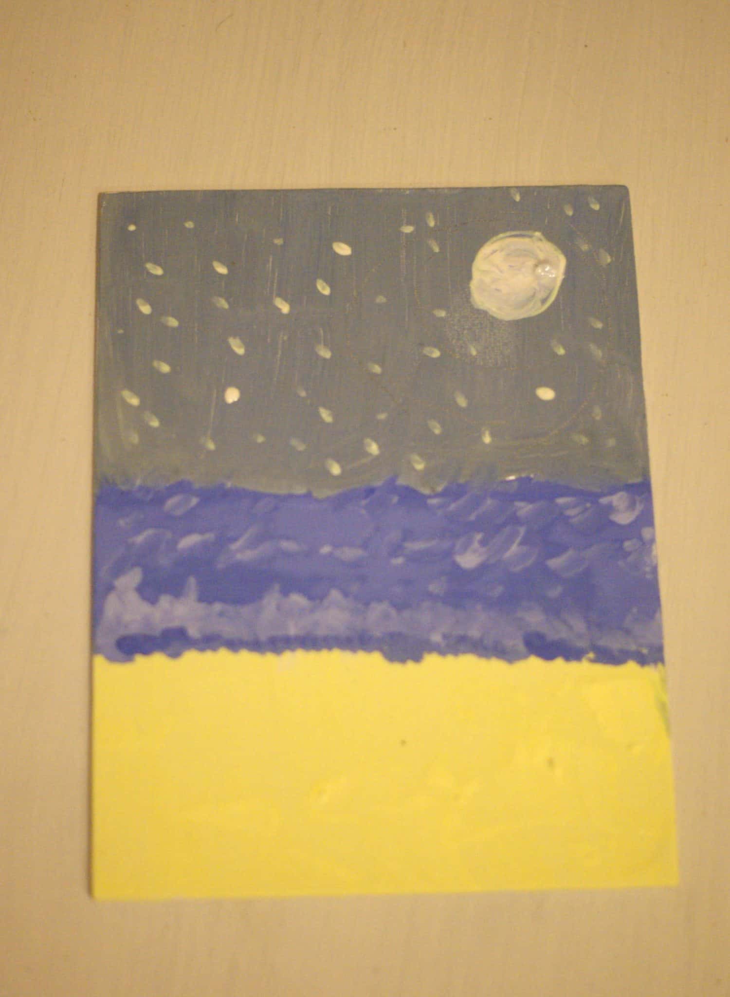 Sea Turtle Craft - Night Sky with moon and stars