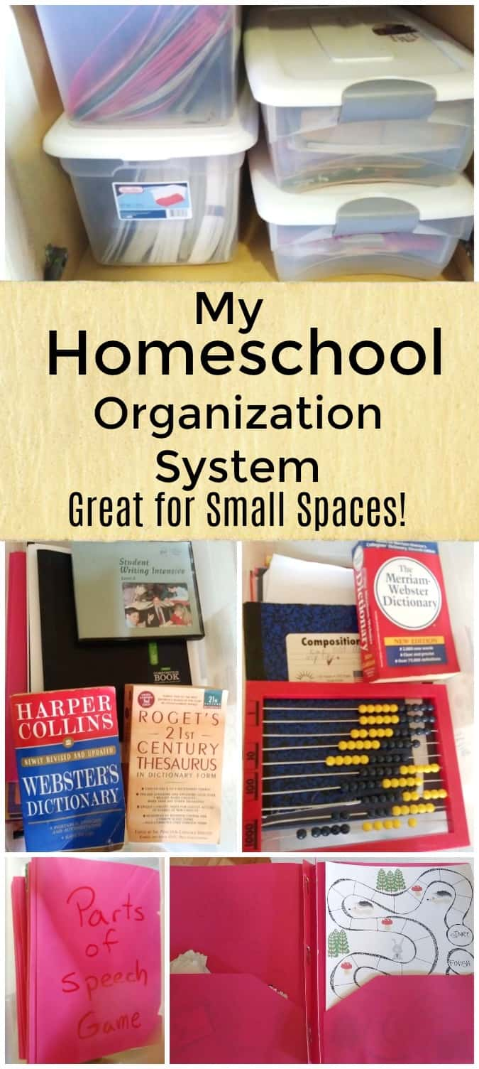 My Homeschool Organization System - Great For Small Spaces - #homeschool #organization #homeschoolorganization #homeschoolroom #edchat #education