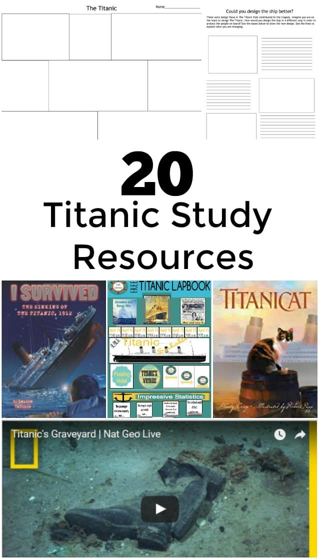 20 Titanic Study Resources - Huge selection of Titanic Books, Titanic Unit Study options, Titanic Lesson ideas, and more!