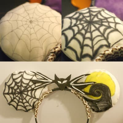 Jack Skellington Mickey Ears DIY - Looking for a Jack Skellington Costume for Mickey's Not So Scary Halloween Party or for Halloween? Don't miss this easy DIY Disney Inspired Costume!
