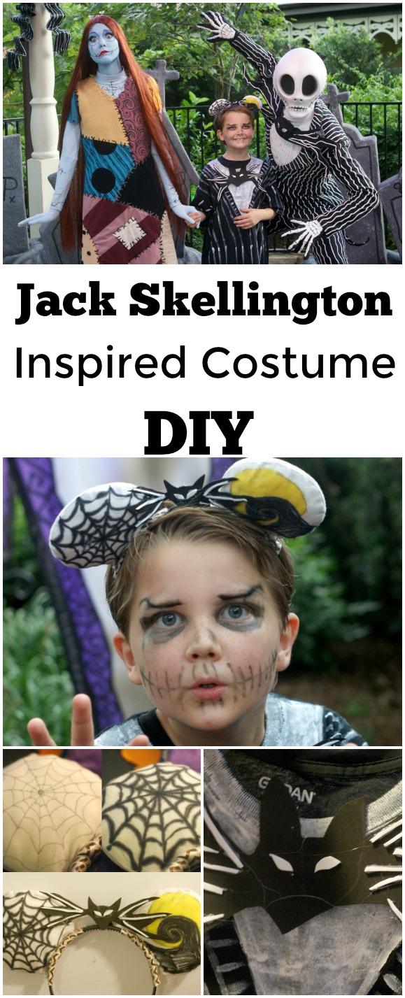 Jack Skellington Inspired Costume DIY - #Disney #JackSkellington #DIY #Costume #NotSoScary #DisneyDIY #DisneyBounding #DisneyCostume