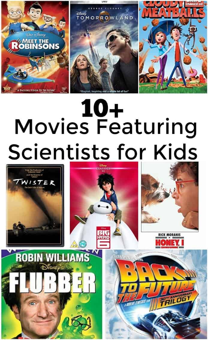 Over 10 Movies Featuring Scientists for Kids - #movies #science #stem #sciencemovies