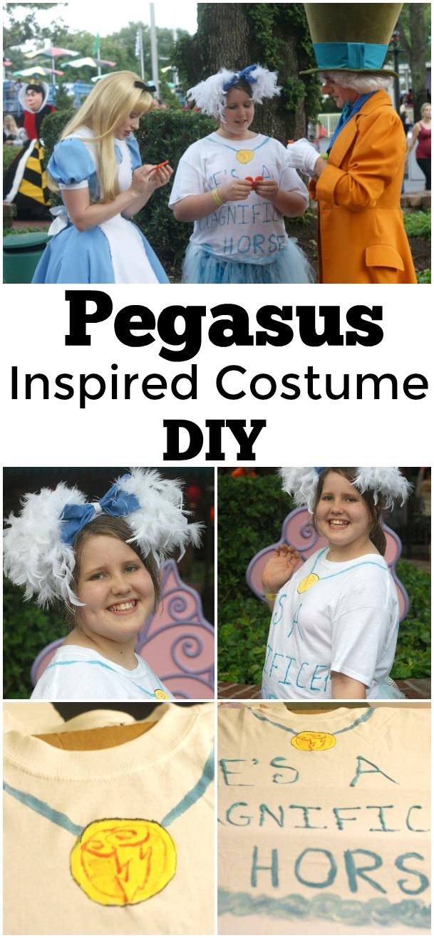 Pegasus Inspired Costume DIY - #Disney #pegasus #DIsneyCostume #Disneybounding #NotsoScary