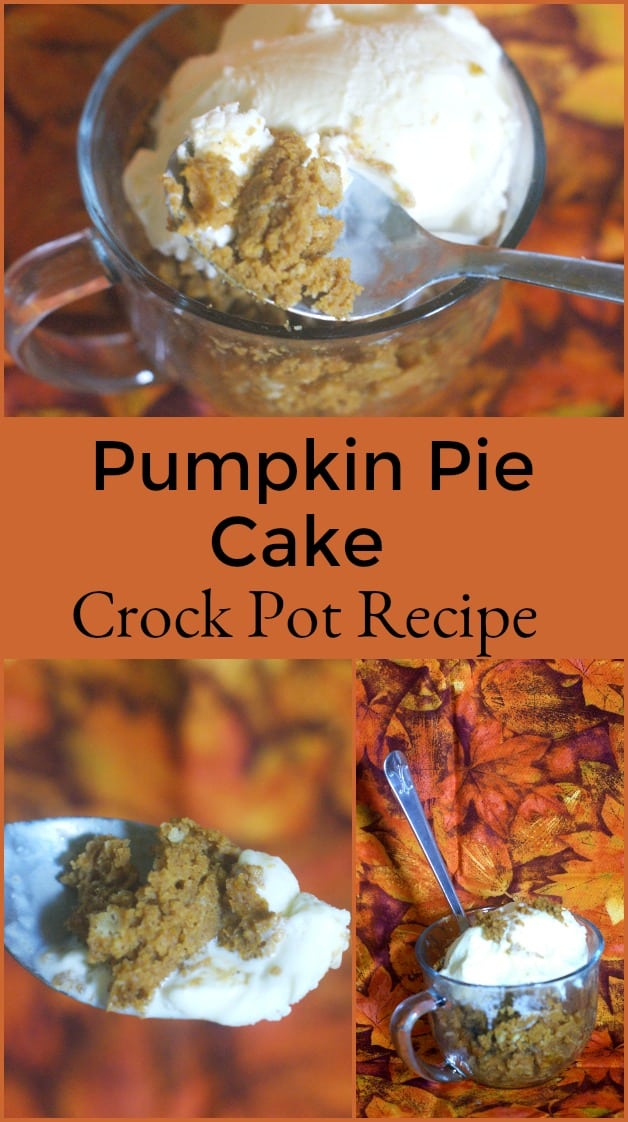 crock Pot Pumpkin Pie Cake