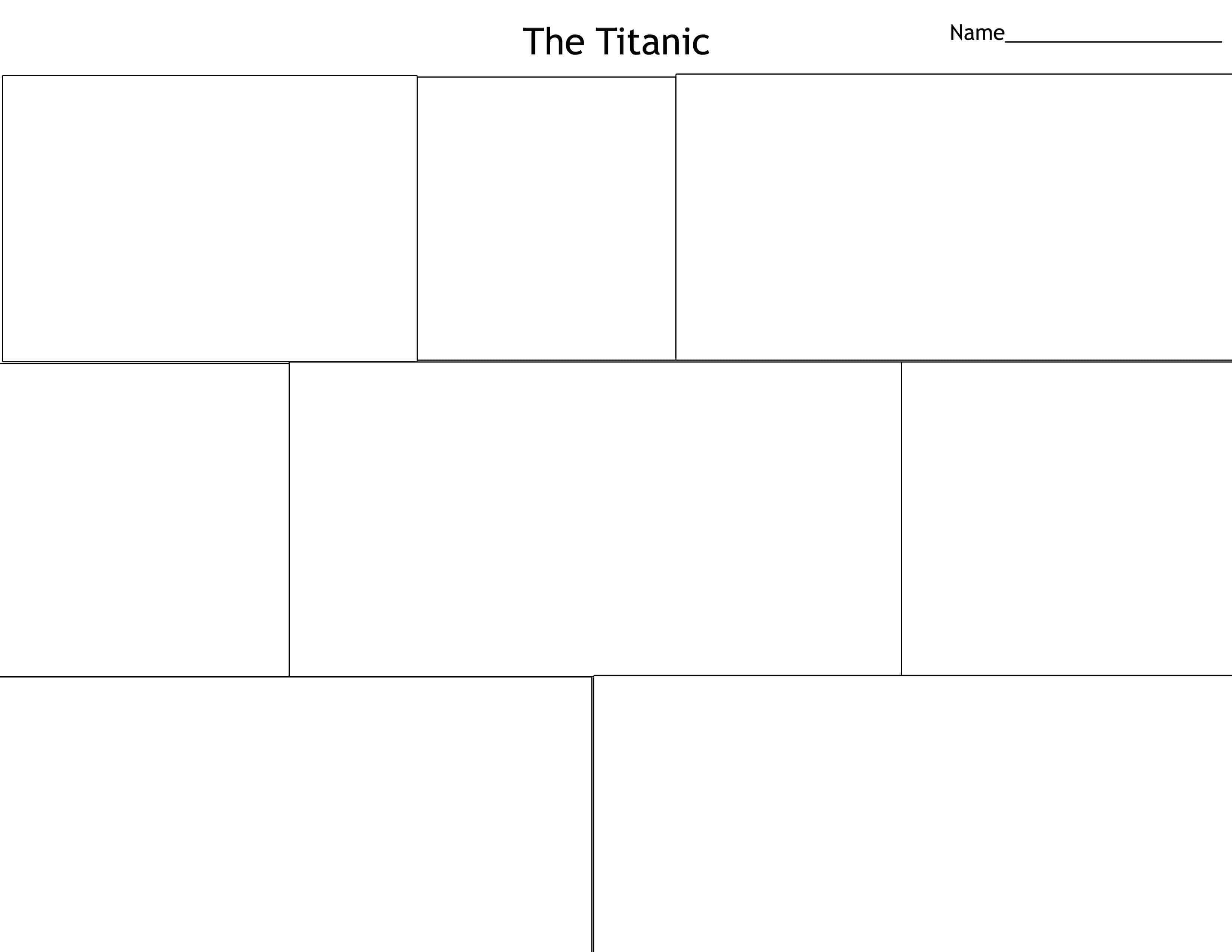 The Titanic Comic Strip