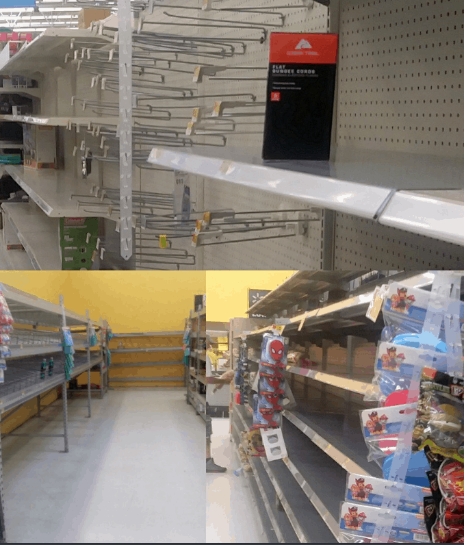 Empty Shelves before Hurricane Irma
