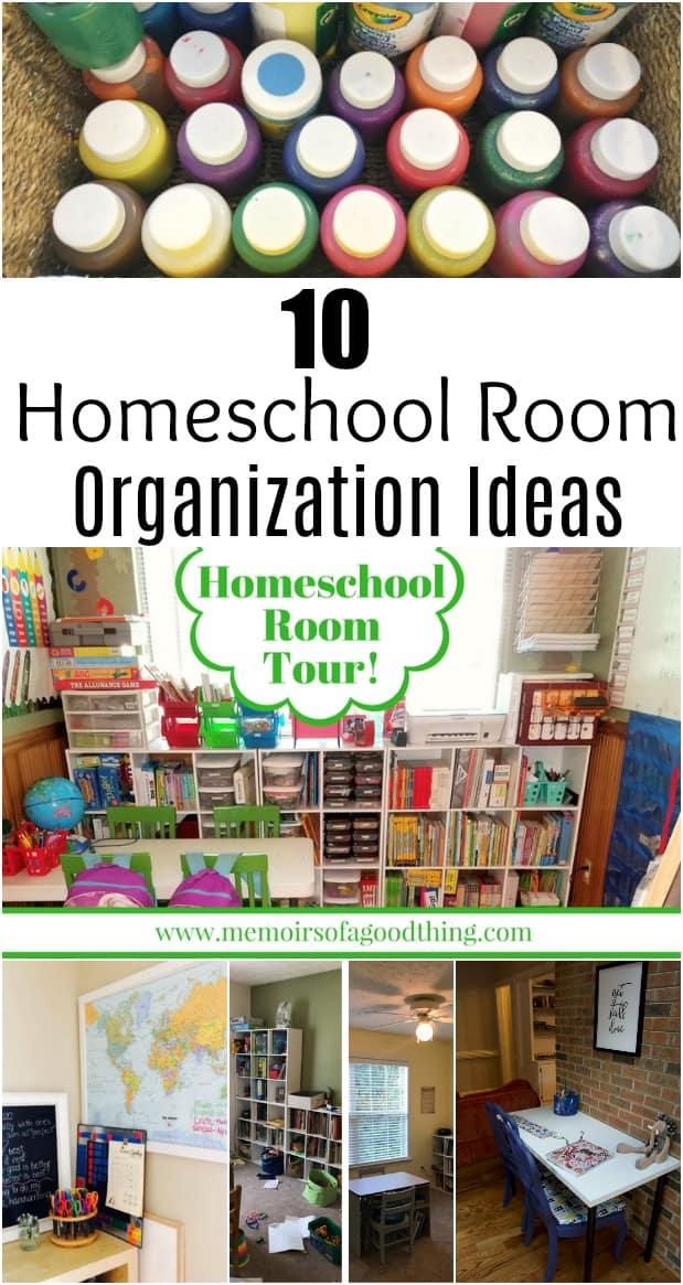 10 Homeschool Room Organization Ideas
