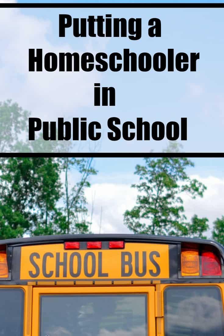 Putting a Homeschooler in Public School - #education #edchat #homeschool #homeschooler #schoolchoice #Parenting