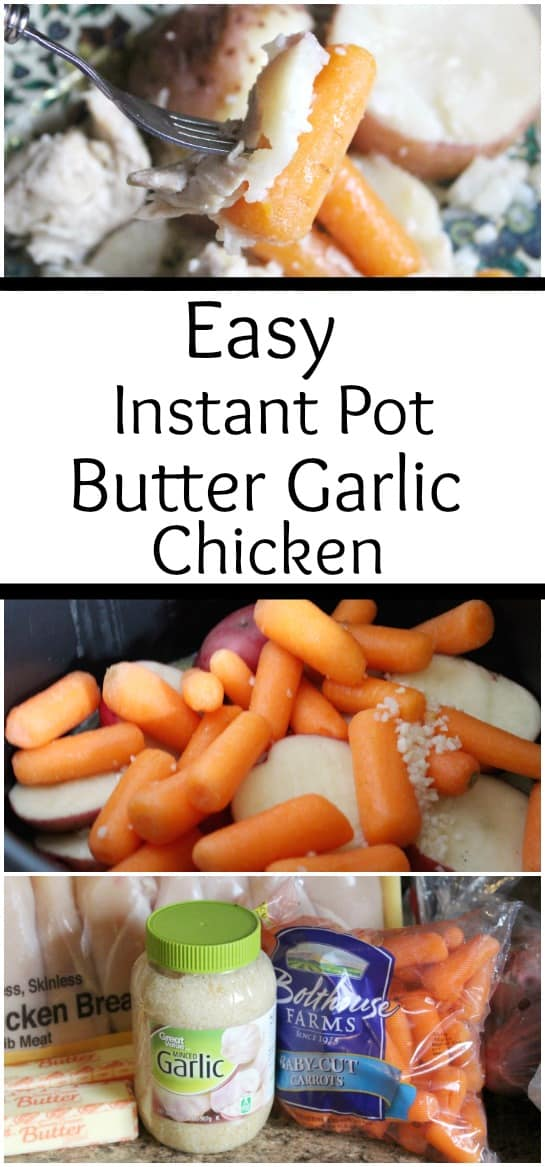 Easy Instant Pot Butter Garlic Chicken - Butter Garlic chicken so easy you can make it in the instant pot in no time!  #instantpot #recipe #chickenrecipe #mealplanning #dinner #recipes #instantpotrecipe