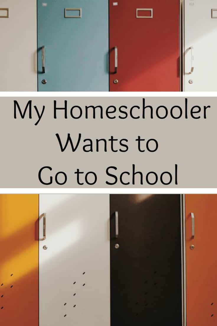 My homeschooler wants to go to school. #homeschool #education #edchat #homeschooling #schoolchoice
