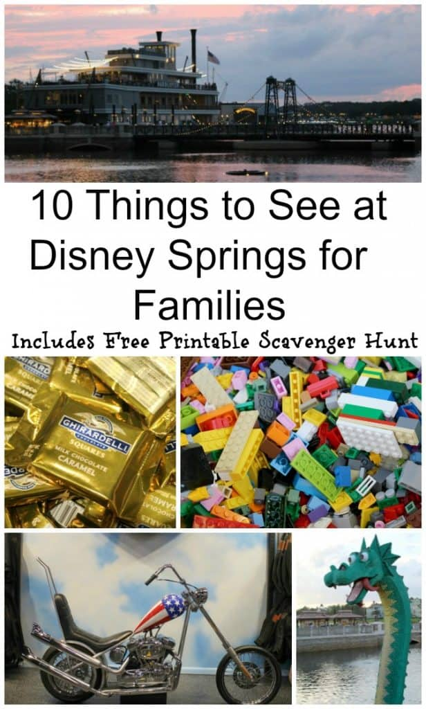 10 Things to see at Disney Springs for Families - Disney Springs Scavenger Hunt - #Disney #Travel #DisneySprings