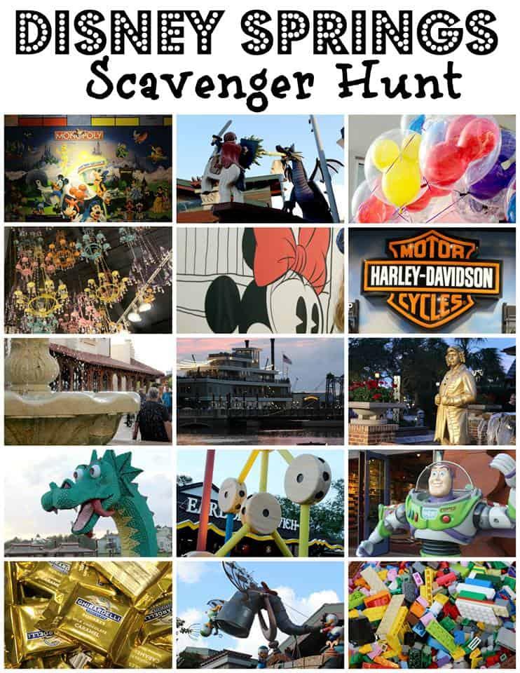 Disney Springs Scavenger Hunt - #Disney #DisneySprings #Travel