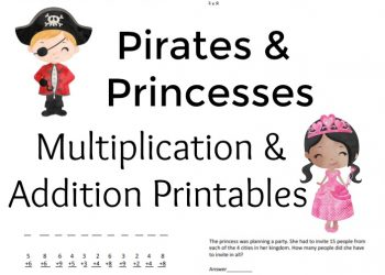 Addition and Multiplication Printable