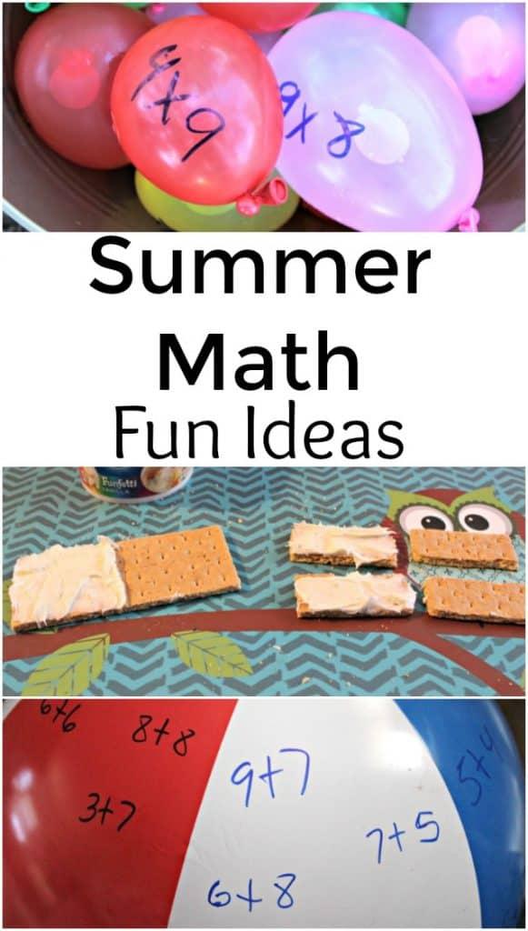 Summer Math Fun Ideas - #summerlearning #math #homeschool #education #learning #edchat