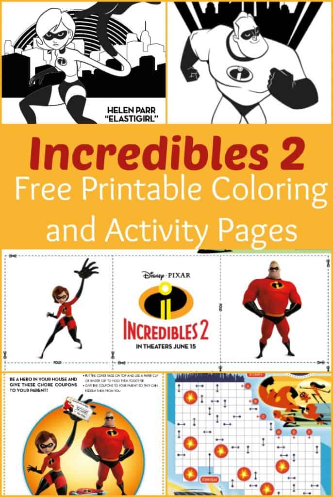 Incredibles 2 Free Printable Coloring and Activity Pages - #FreePrintable #Disney #Incredibles2