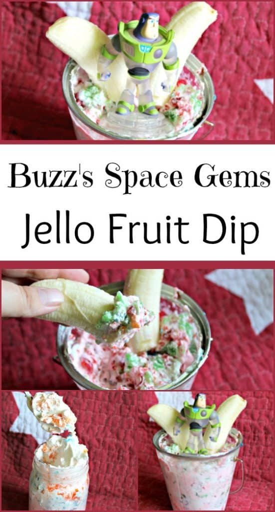 Buzzs Space Gems Jello Fruit Dip Jello Dessert Recipe | Toy Story Inspired Dessert #dessert #toystory #disney