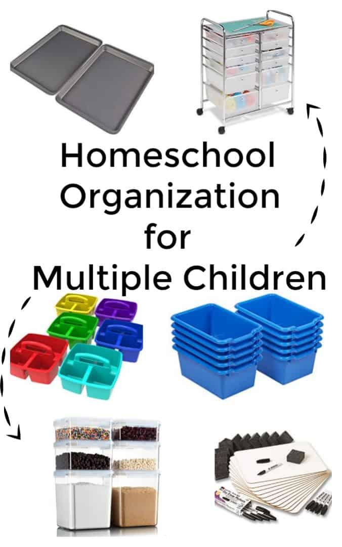 Homeschool Organization for Multiple Children - #homeschool #organizaation