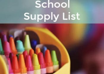 Homeschool School Supply List