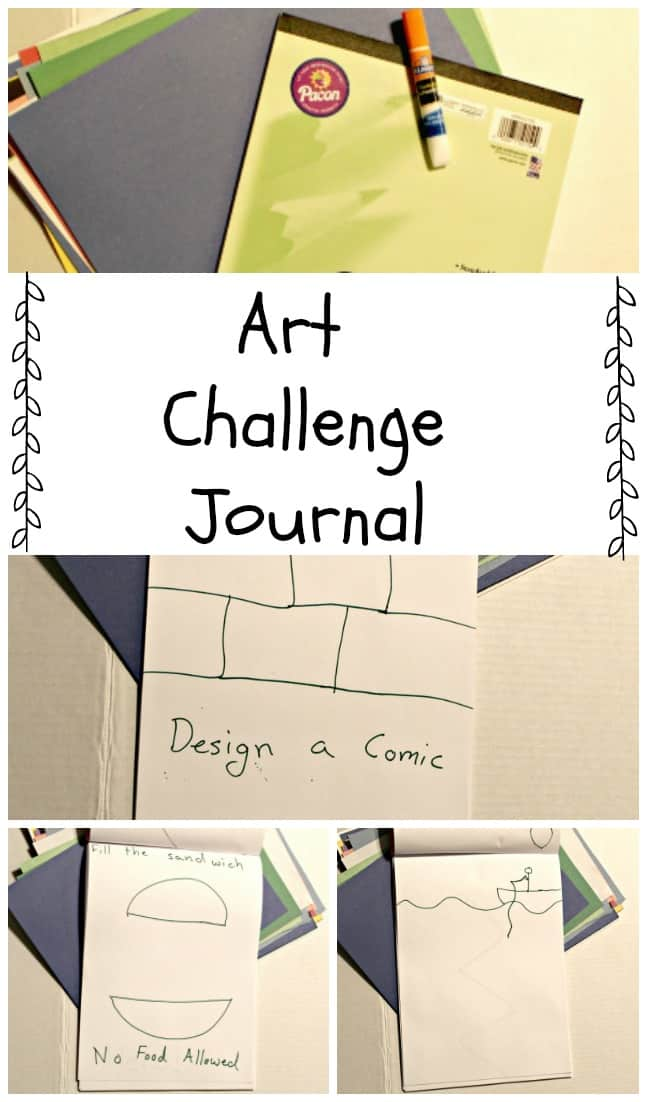 Art Challenge Journal - Get kids excited about art. #Art #homeschool #education