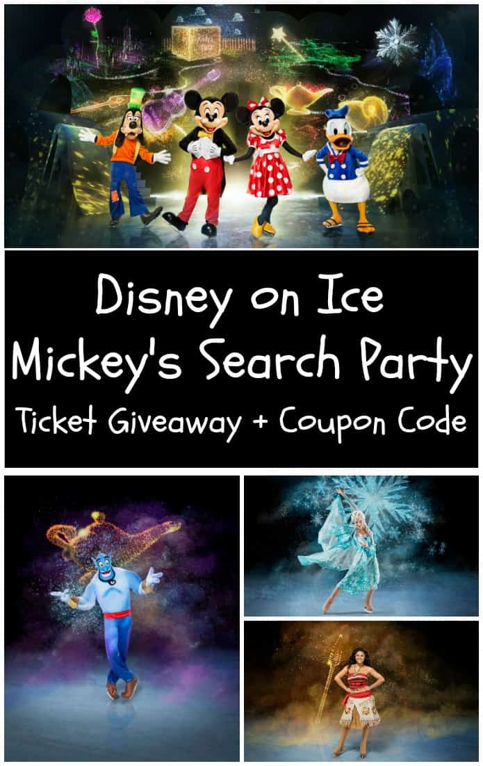 Disney on Ice Mickey's Search Party Ticket Giveaway and Coupon code!