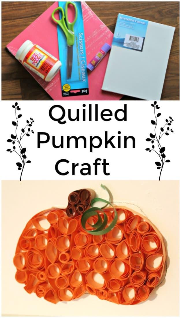 Quilled Pumpkin Craft