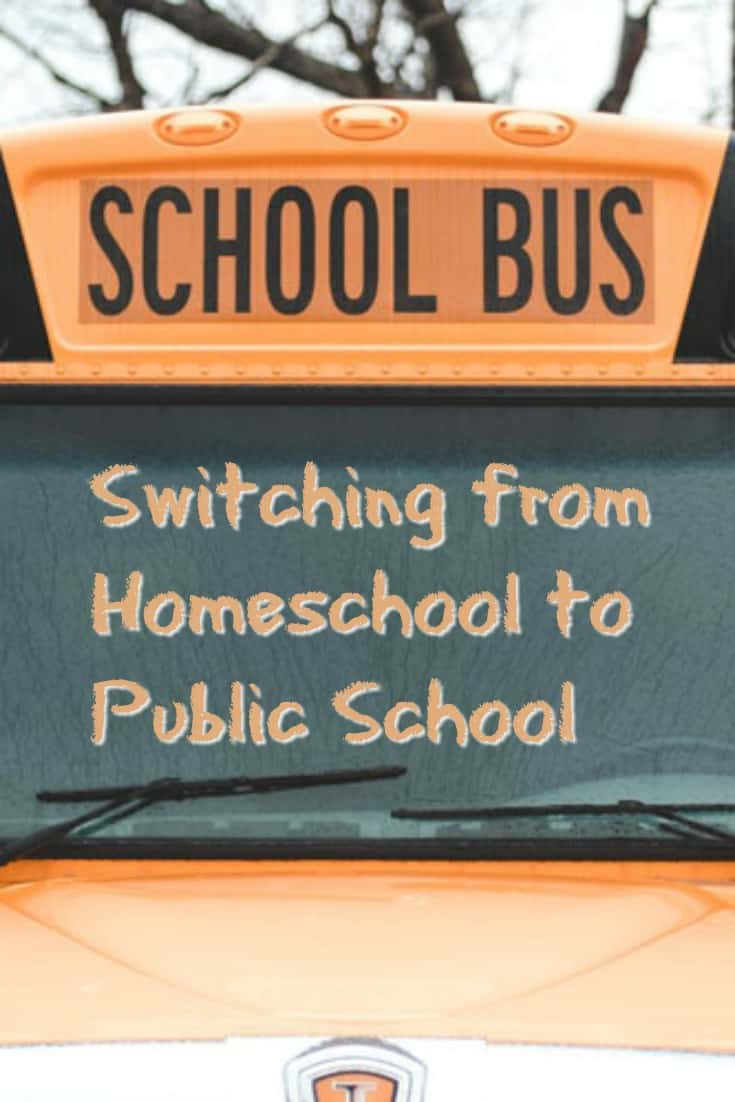 Switching from Homeschool to Public School