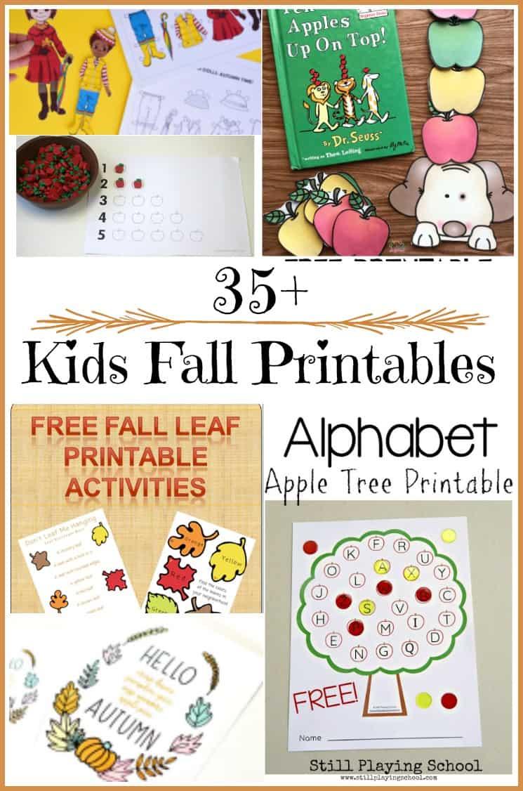 35+ Kids Fall Printables - Kids fall learning printables #printable #freeprintables