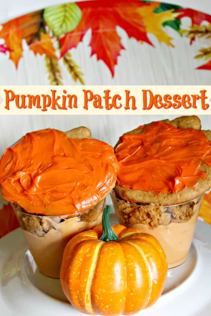 Pumpkin Patch Dessert - Perfect dessert for a halloween party or a fall party! #pumpkin #dessert