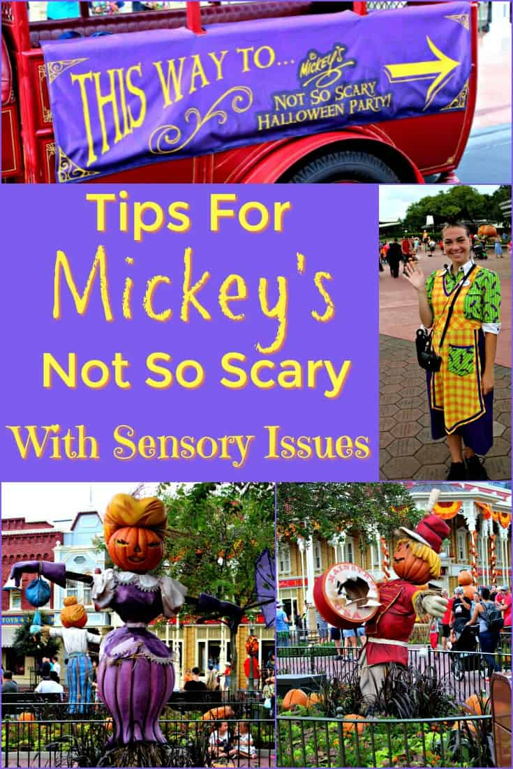 Tips for Mickey's Not So Scary Halloween Party with Sensory Issues - You can still enjoy the Disney Halloween party with sensory issues!