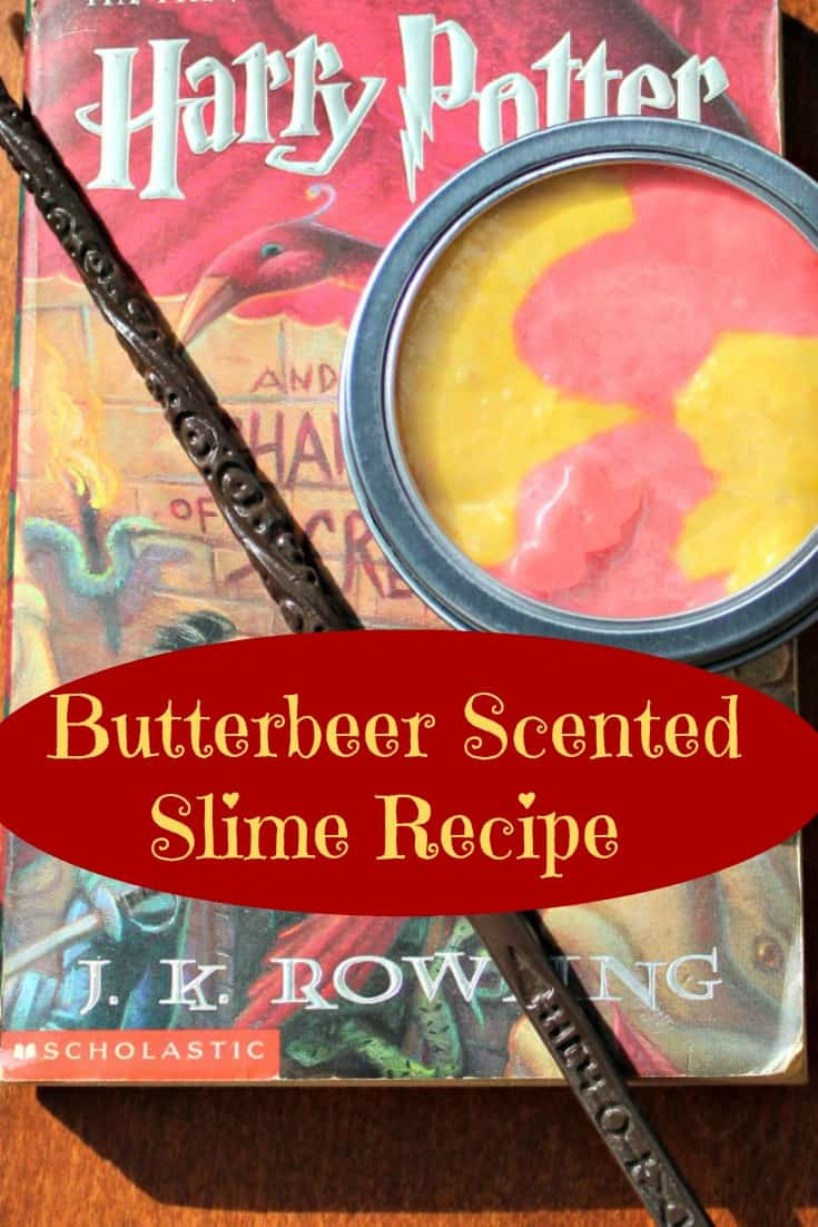 Looking for a Harry Potter gift idea? Don't miss this butterbeer slime recipe that is sure to please any Harry Potter fan. This easy slime recipe smells incredible and makes a great stocking stuffer or gift. It would also be an awesome party favor for a Harry Potter Birthday party.