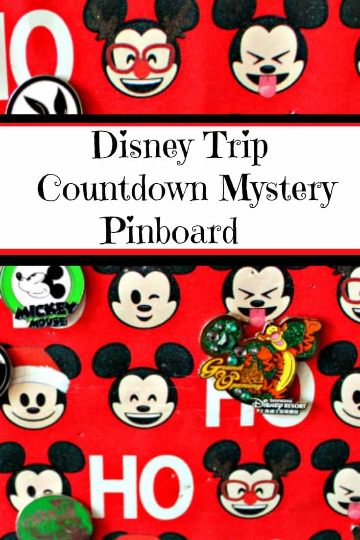 This Disney Pin Advent Calendar DIY pinboard craft is the perfect way to celebrate the holidays or count down to your next trip. Perfect for Disney Pin trading families who want pins for their trip in a fun way. #Disney #PinTrading #Christmas